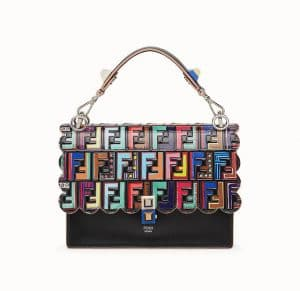 Fendi Black FF Pattern Kan I Bag