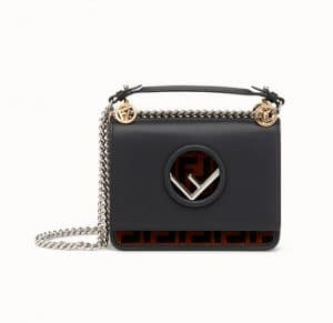 Fendi Black FF Pattern Kan I F Small Bag