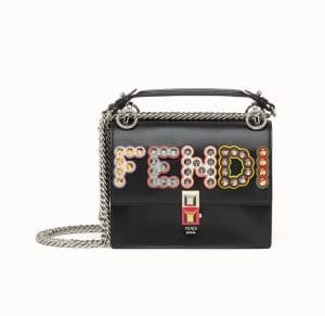Fendi Black Studded Kan I Small Bag