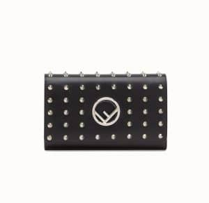 Fendi Black Studded Wallet On Chain Bag