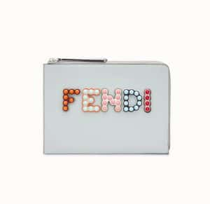 Fendi Gray Fun Fair Flat Clutch Bag