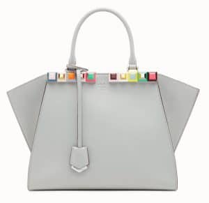 Fendi Gray Studded 3Jours Bag