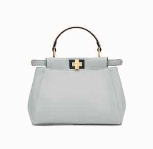 Fendi Gray/Pink Peekaboo Mini Bag