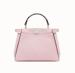 Fendi Light Pink Roman Leather with Python Peekaboo Mini Bag