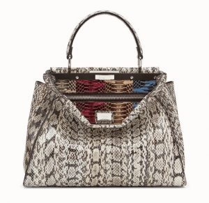 Fendi Multicolor Exotic Python Peekaboo Bag