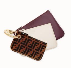 Fendi Multicolor F Pattern Triplette Clutch Bag