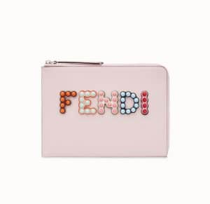 Fendi Pink Fun Fair Flat Clutch Bag