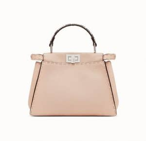 Fendi Pink Roman Leather with Python Peekaboo Mini Bag
