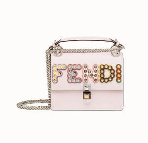 Fendi Pink Studded Kan I Small Bag