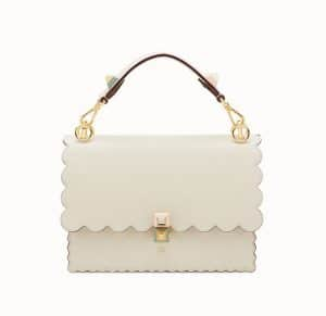 Fendi White Kan I Bag