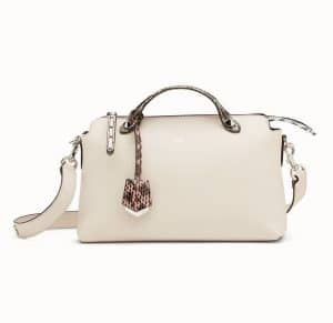Fendi White Leather/Elaphe By The Way Bag