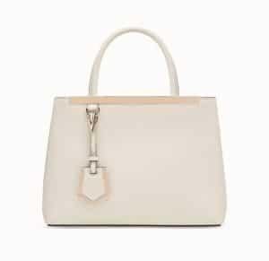 Fendi White Petite 2Jours Bag