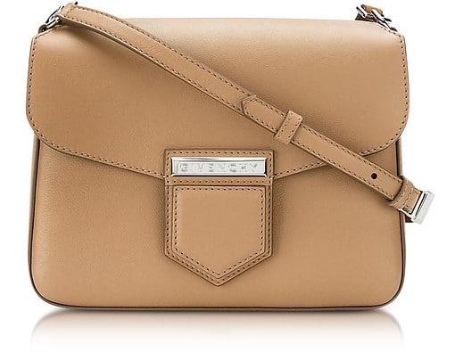 Givenchy Nobile Small Beige Leather Shoulder Bag