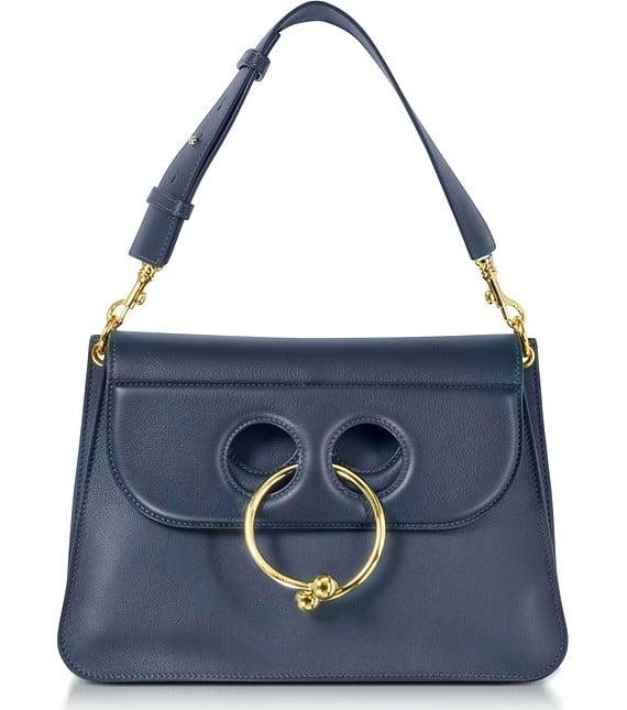 J.W. Anderson Navy Leather Medium Pierce Bag