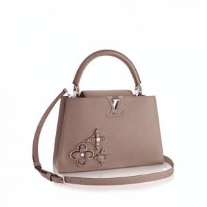 Louis Vuitton Beige Monogram Flower Embellished Capucines PM Bag
