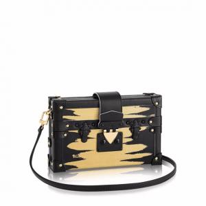 Louis Vuitton Black Golden Light City Petite Malle Bag