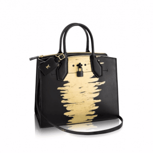 Louis Vuitton Black Golden Light City Steamer MM Bag