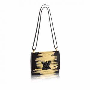 Louis Vuitton Black Golden Light Twist PM Bag