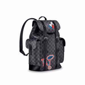 Louis Vuitton Damier Graphite LV League Christopher Backpack PM Bag