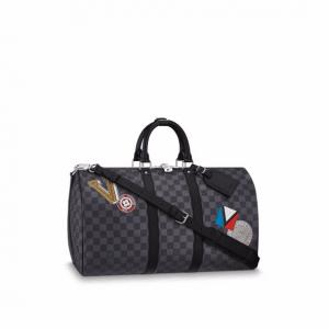 Louis Vuitton Damier Graphite LV League Keepall 45 Bandoulière Bag