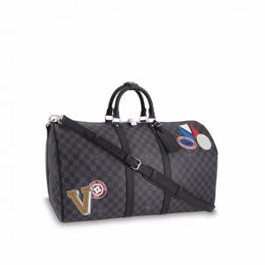 Louis Vuitton Damier Graphite LV League Keepall 55 Bandoulière Bag