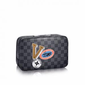 Louis Vuitton Damier Graphite LV League Toilet Pouch GM