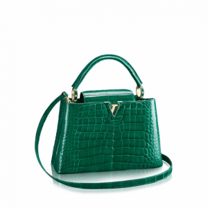 Louis Vuitton Emeraude Crocodile Capucines PM Bag