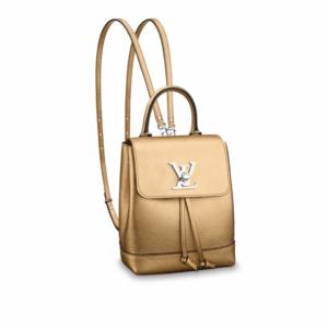 Louis Vuitton Gold Lockme Backpack Mini Bag