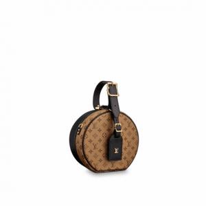 Louis Vuitton Monogram Reverse:Black Calfskin Petite Boite Chapeau Bag