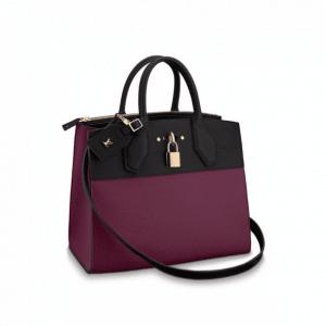 Louis Vuitton Prune Noir City Steamer MM Bag