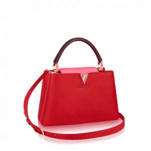 Louis Vuitton Red Capucines PM Bag