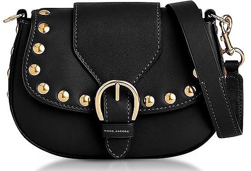 Marc Jacobs Black Leather Small Studded Navigator Shoulder Ba