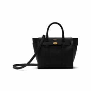Mulberry Black Mini Zipped Bayswater Bag