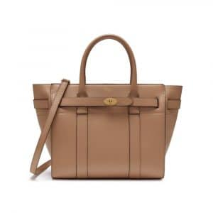 Mulberry Blush Small Classic Grain Small Zipped Bayswater Bag