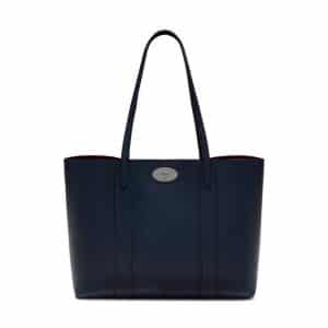 Mulberry Bright Navy Cross Grain Leather Bayswater Tote Bag