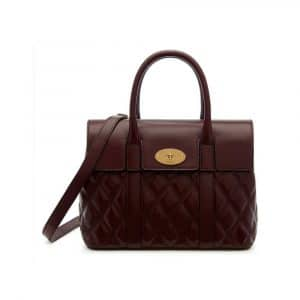 Mulberry Burgundy Quilted Smooth Calf Small Bayswater Bag