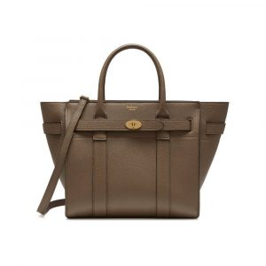 Mulberry Clay Small Classic Grain Small Zipped Bayswater Bag