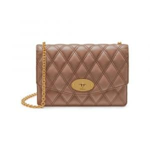Mulberry Dark Blush Quilted Smooth Calf Small Darley Bag