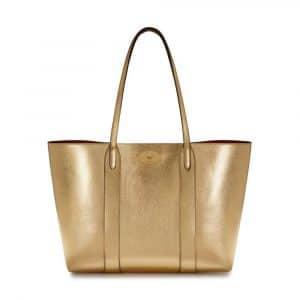 Mulberry Gold Metallic Printed Goat Bayswater Tote Bag