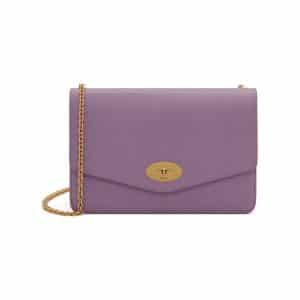 Mulberry Lilac Cross Grain Leather Darley Bag