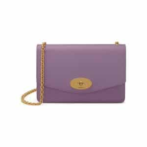 Mulberry Lilac Cross Grain Leather Small Darley Bag
