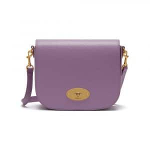 Mulberry Lilac Cross Grain Leather Small Darley Satchel Bag