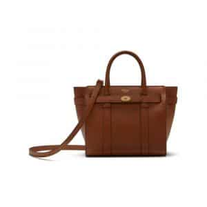 Mulberry Oak Mini Zipped Bayswater Bag