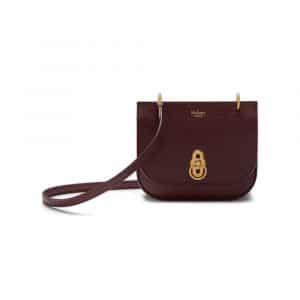 Mulberry Oxblood Mini Amberley Satchel Bag