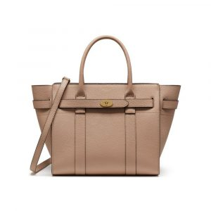 Mulberry Rosewater Small Classic Grain Small Zipped Bayswater Bag