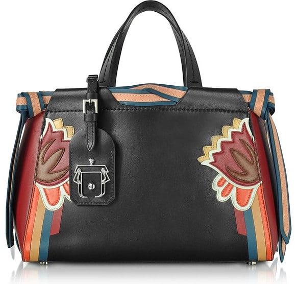 Paula Cademartori Linda Black Leather Shoulder Bag