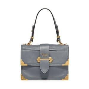 Prada Astral Blue Cahier Top Handle Bag