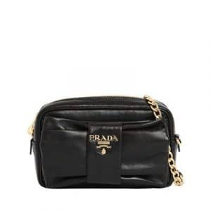 Prada Black Bow Camera Bag