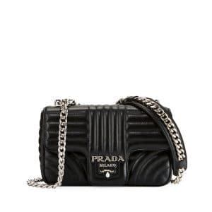 Prada Black Diagramme Small Shoulder Bag