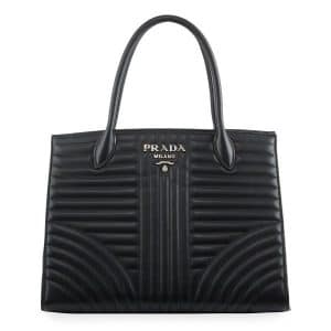 Prada Black Diagramme Top Handle Bag
